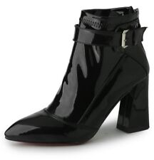 WOMEN GORGEOUS PU PATENT LEATHER BOOTS