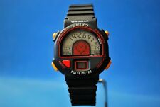 VINTAGE SEIKO LCD S240-4000 AO. PULSE METER. ALARM/TIMER/CHRON.    V.V.RARE*