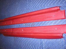 1982 - 92 Camaro Firebird Dark Carmine Red Door Sill Plates  PAIR Left & Right