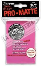 ▲ ULTRA PRO PRO-MATTE STANDARD 50 BUSTINE 66mm x 91mm (MTG MAGIC) COLORE ROSA