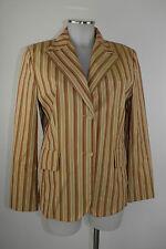 Windsor AMERICANA 40 con rayas marrón beis algodón chaqueta chaqueta chaqueta