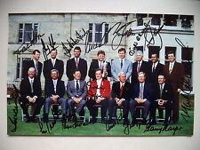 OPEN GOLF CHAMPIONS MULTI-SIGNED PHOTOGRAPH 1995 INC SEVE, PALMER, NICKLAUS
