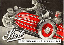 1949 Steib sidecars poster
