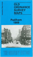 OLD ORDNANCE SURVEY MAP PADIHAM 1909 SHUTTLEWORTH HALL HUNTROYDE
