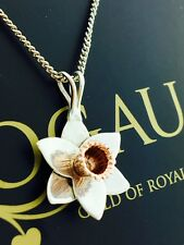 Clogau Gold Silver & 9ct Rose Gold Large Daffodil Pendant Necklace