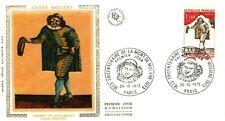 1973 Annee Moliere, Paris Postmark, France, FDC