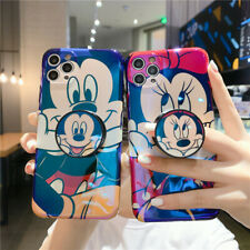 For iPhone 11 Pro XS Max 7 8+ Cute Minnie Mickey Blu Ray Holder Stand phone case