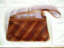 VINTAGE  - sac en cuir brun