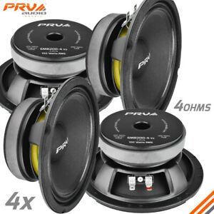 """4x PRV Audio 6MB200-4 6.5"""" Car Speakers 4 Ohms 200 Watts LOUD PRO Audio Midbass"""