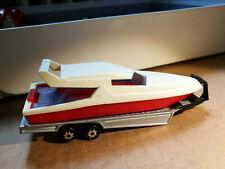 Majorette  300 series  Speed Boat and trailer   RARE