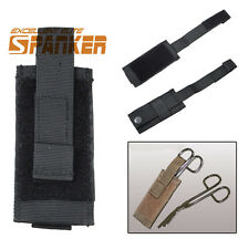 "Airsoft Molle Belt Knife Sheath For 4 .5""/6"" Fixed Knife Mini Flashlight Holster"