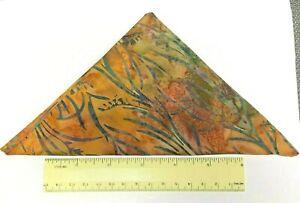 Batik Brown Floral Fabric Fat Quarter Tye Dye 100% Cotton Quilting Fabric