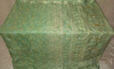 SILK BLEND Antique Vintage Sari Saree Fabric Material 4yd ZZ1 335 Green #ABCQZ