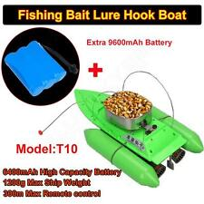 T10 Fishing Bait Boat Lure Carp 300M Remote Controller+1pc 9600mAh Battery Green