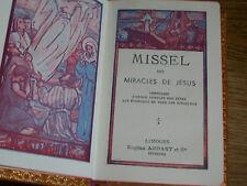 1953 ancien MISSEL EVANGILES des MIRACLES de JESUS LIMOGES eugene ardant n°222