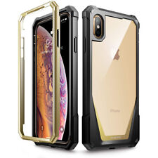 For Apple iPhone Xs Max Poetic Guardian w/ Built-in-Screen Protector Case Gold