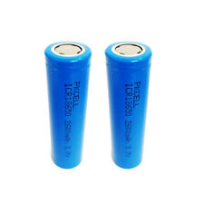 2 18650 Li-ion Rechargeable Vape Mod Batteries 2600mAh 3.7V Flat Top PKCELL