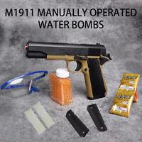 M1911 Manual Plastic Gun Gel Ball Blaster Water Bomb Bullet Toy Pistol Kids Gift