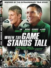 NEW - When The Game Stands Tall DVD - Based On True Story BRAND NEW