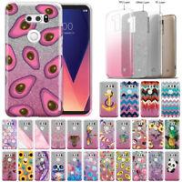 """For LG V30 V30+ Plus 6"""" VS996 H932 US998 Two Tone Glitter Bling TPU Cover Case"""