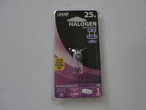 Feit Electric BPQ25/G8 25-Watt Bi-Pin T-4 Clear Halogen, Single Bulb