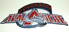"""Colorado Avalanche Embroidered Patch~4 7/8"""" x 2 1/8""""~NHL~Iron Sew On~Ships FREE"""