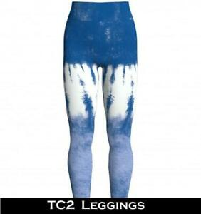 NEW Lularoe Leggings TC2 Bright Blue and White Ombre Tie Dye TC 2