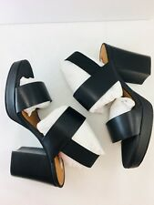 Stockholm Atelier & Other Stories Black Leather Block Heel Platform Sandal 6.5