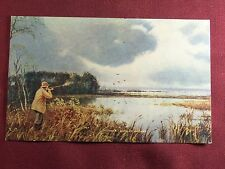The A.F. Kern Co Chicago IL 1920's Vintage Postcard Duck Hunting Scene