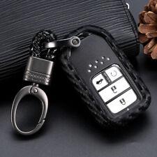 Carbon Fiber Car Key Case Accessories For Honda Accord CR-V HR-V Civic 1set USPS