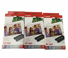 """Color Ink Paper Set KP-36IP for Canon Selphy CP220 CP730 CP820 4"""" x 6"""" Lot Of 3"""