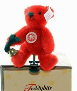 Steiff bears*Steiff Teddy bear red Ornament Limited Edition 9cm*Ean 037474