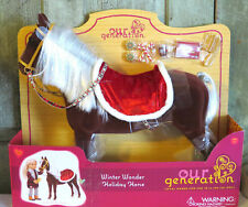 AG Our Generation Winter Wonder Holiday Horse Christmas Fuzzy Brown NEW