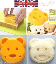 Carino Teddy Bear Shape Sandwich Cutter PANE TORTA TOAST MUFFA GRATIS UK Consegna