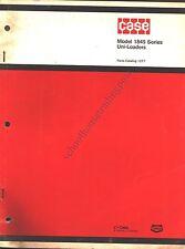 Original CASE Parts Catalog 1277 Model 1845 Series Uni-Loaders 1975