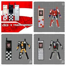 NEW Makuake Limited au TRANSFORMERS PROJECT INFOBAR Set of 3 Action Figure