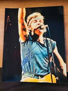 Bruce Springsteen Autographed Color Photo