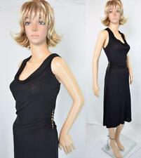 VTG 80s 90s David Meister Black Studs Draped Stretchy Bandage Party Dress 10