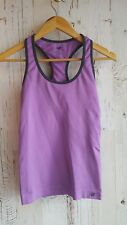 New Balance Women's Purple Seamless Racerback Tank Top Built In Shelf Bra Small