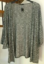 ☆Lush George Grey Marl Draped Sleeve Cardigan☆Plus Size 24☆Brand new with tags!☆