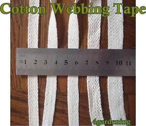 Cream 100% Cotton Bunting Apron Herringbone Twill Webbing  Tape Sewing Strap