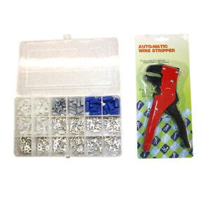 Electrical Connectors/Terminals Repair Kit w/plastic case + Wire Crimper - EKIT1
