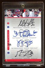2005 UD QUAD AUTOGRAPH SP MARTIN BRODEUR-MARC-ANDRE FLEURY-JOSE THEODORE-GIGUERE