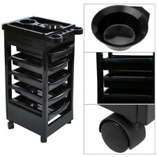 5 Tiers Removable Portable Salon Trolley Cart Storage Beauty Stylist Equipment
