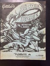 Gottlieb Star Race Pinball Instruction Manual Schematic 1980