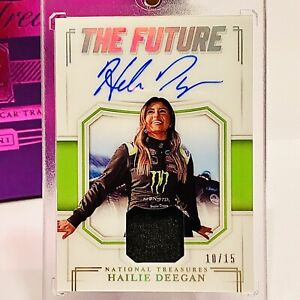 "HAILIE DEEGAN ""THE FUTURE"" RPA - RARE HOLO #10/15! 2020 National Treasures RC 🔥"