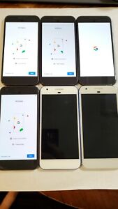 Lot Of 6 Google Pixel 1st Generation READ DESCRIPTION Issues 035