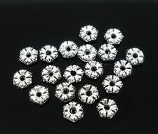 Perline sfuse di metallo in argento