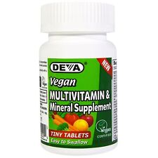 Multivitamin & Mineral Supplement - 90 Tiny Tablets by Deva - Easy to Swallow