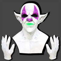 Creepy Evil Scary Halloween Clown Mask Latex Horror Clown Party Cosplay Prop
